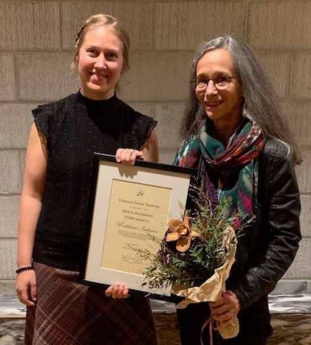 Madeleine receives the Rosenberg Award from FST (Swedish Composers Society)